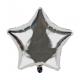 Ballon étoile argenté