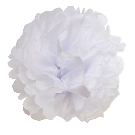 White paper pompom wedding