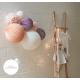 Kit de lampions dans les tons de rose et mauve pour une chambre de petite fille