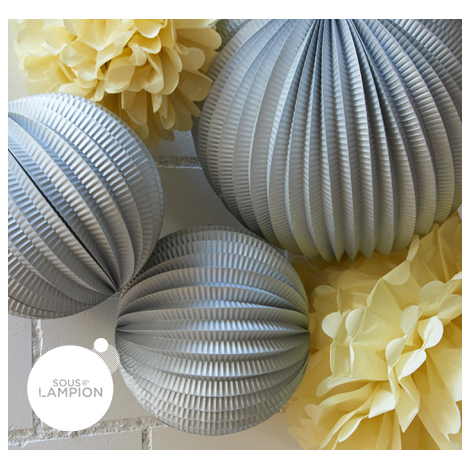 Paper lanterns kit for an affordable decoration of a home office or bedroom