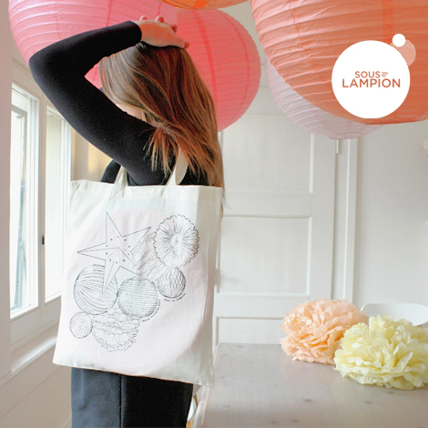 Tote bag à colorier Sous Le Lampion