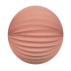 Peach pink accordion paper lantern