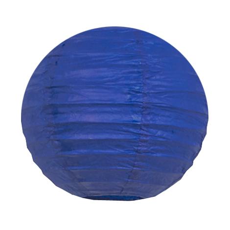 Mini lanterne en papier bleu foncé
