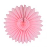 Rosace en papier rose pâle