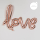 Ballon LOVE écrit à la main calligraphié rose gold