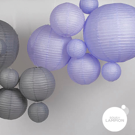 Lavender mini paper lantern