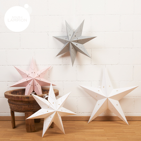 small and large star lanterns