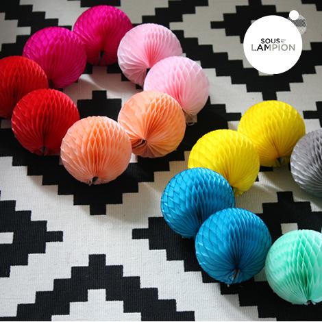Honeycomb ball - 12cm - Aquatic