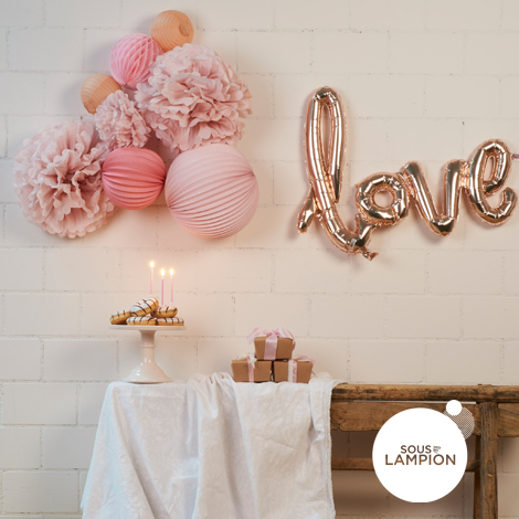 Pastel paper lanterns set for birthday and nursery decor