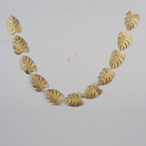 Gold leaves garland for Christmas and Holidays decor