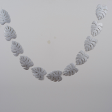 silver leaves garland for Christmas and Holidays decor