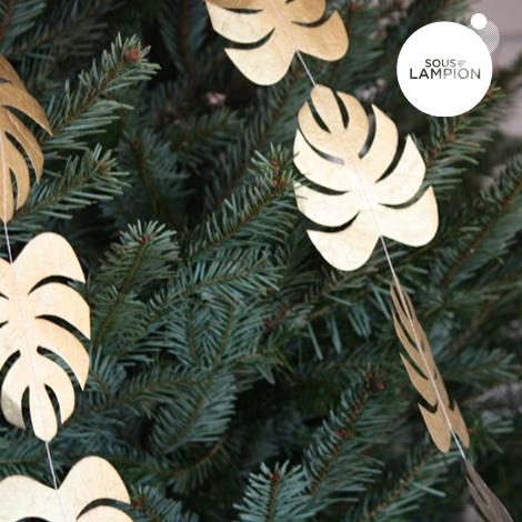 Guirlande de feuilles - 1,50 m - Doré