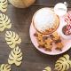 décoration de table de fête doré