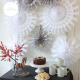 Paper snowflake - 38cm - White