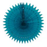 Rosace ajourée - 53cm - Bleu canard