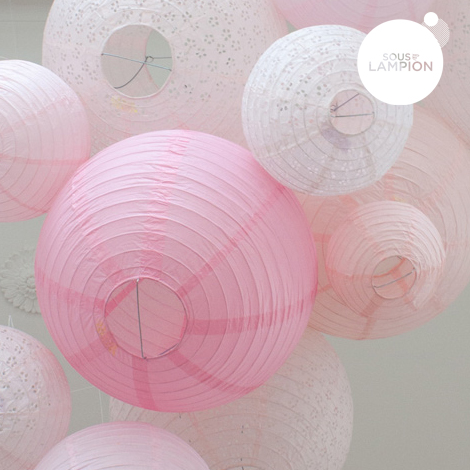 Paper lantern - 66cm - Pretty in pink