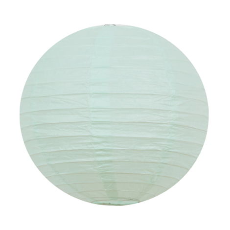 Mini lanterne chinoise vert mint pastel pour une décoration de chambre ou d'anniversaire