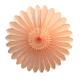 Rosace en papier pêche vintage pour la décoration à suspendre ou accrocher au mur pour décorer une fête
