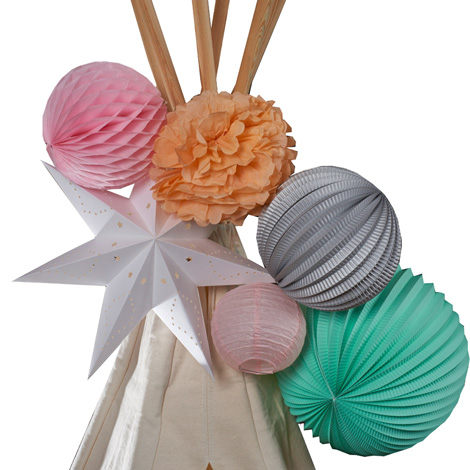 Paper lanterns kit - GYPSY TEEPEE