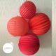 Paper lantern - 20cm - Sweetheart red