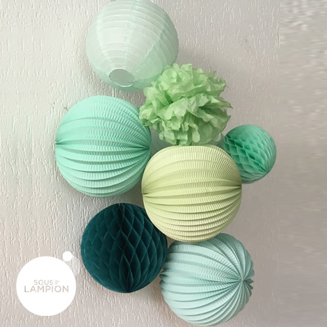 Paper lantern - 50cm - Pastel mint