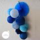 Lampion rond Bleu royal dans une composition