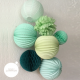 Honeycomb ball - 30cm - Frosted mint