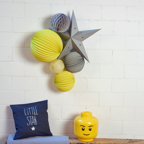 Yellow and grey nursery decor idea