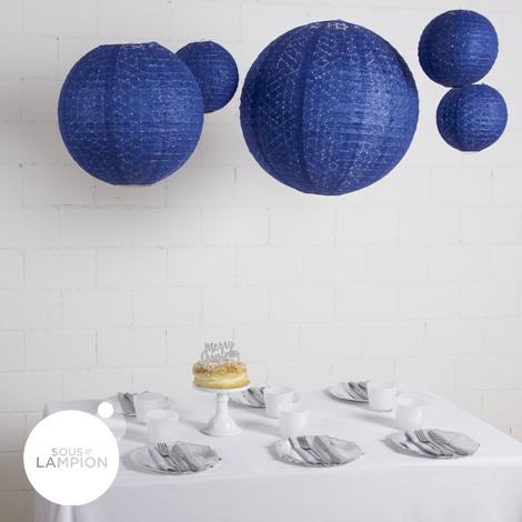 Lace paper lantern  - 20cm - Dark blue