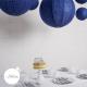lanterne aspect dentelle bleu nuit pour la décoration d'un mariage ou d'une table de Noel