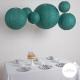 Lanterne en papier aspect dentelle vert pour la décoration d'un mariage ou de Noel