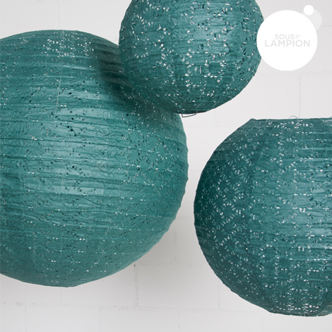 Lace paper lantern - 35cm - Dark green