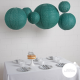 Lace paper lantern - 66cm - Dark green