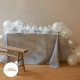 Silver grey and white balloon installation for party decor