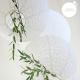 Eyelet lantern - 20cm - White