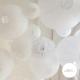 Lanterne ajourée blanche de taille variable