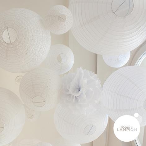 Eyelet lantern - 50cm - White