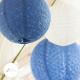 Lace paper lantern - 66cm - Dark blue