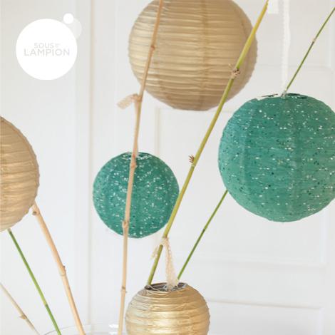 Paper lantern - 50cm - Gold