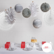 White Christmas - set of 8 decorations