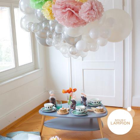 guirlande de ballons pour décoration de fête