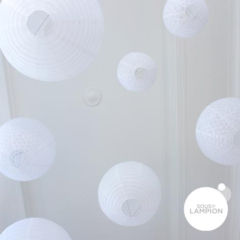 Mariage blanc - lot de 9 lanternes