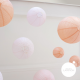 Pink wedding - set of 9 paper lanterns