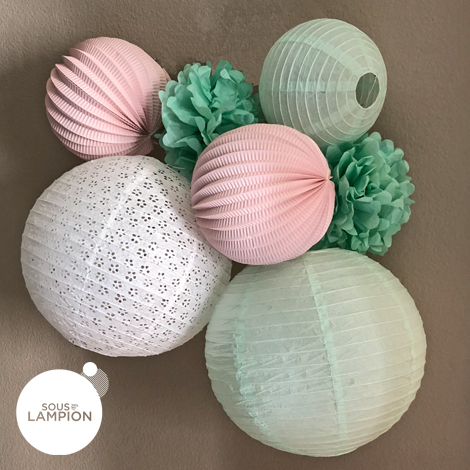 mint and pink nursery decor - Under The Paper Lantern