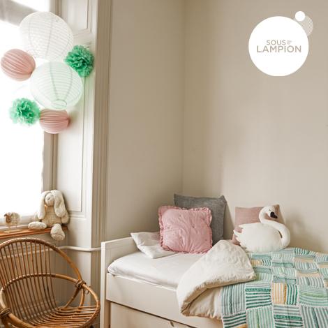 Décoration chambre rose et mint -  kit de lampions Sous Le Lampion