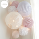 White and pink nursery decor