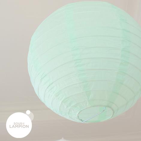 Lanternes mint et blanche pour une décoration de mariage