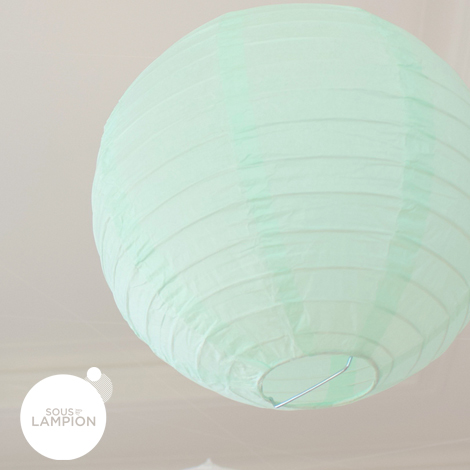 Mint and white wedding - set of 9 paper lanterns