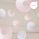Lanternes roses et blanches pour décoration de mariage