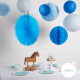 Blue party - set of 8 decorations